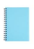 Livro de nota azul ciano vazio para o escritório imagens de stock royalty free