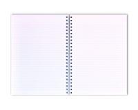 Livro de nota branco Fotos de Stock Royalty Free
