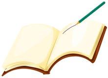 Livro de nota com lápis Imagens de Stock