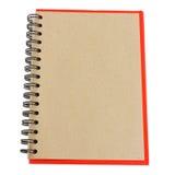 Livro de nota de Brown Fotografia de Stock