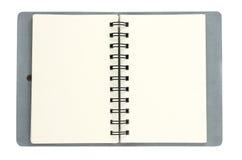 Livro de nota de couro Imagem de Stock