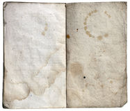 Livro de nota de papel velho Fotografia de Stock