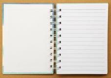 Livro de nota do Livro Branco Foto de Stock