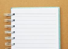 Livro de nota do Livro Branco Foto de Stock Royalty Free