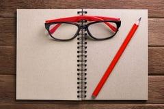 Livro de nota em branco Fotos de Stock