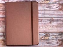 Livro de nota marrom de seda da tampa Imagem de Stock