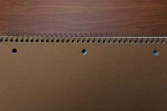 Livro de nota na mesa Foto de Stock