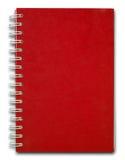 Livro de nota vermelho da tampa Fotografia de Stock Royalty Free