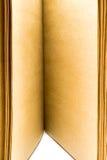 Livro de papel marrom das páginas abertas do close up Foto de Stock Royalty Free