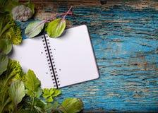 Livro de receitas vazio para o espaço da cópia Foto de Stock Royalty Free