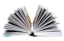 Livro de Revealling imagem de stock
