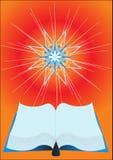 Livro de Revealling e estrela de brilho ilustração royalty free