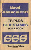 Livro de selos da troca triplicar-se Foto de Stock Royalty Free