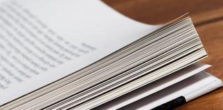 Livro de texto dos white pages Fotos de Stock Royalty Free