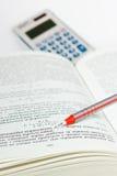 Livro de texto na economia Fotografia de Stock
