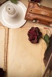 Livro do amor do vintage Imagem de Stock Royalty Free