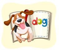 Livro do cão pequeno ilustração stock