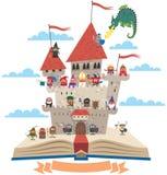 Livro do conto de fadas ilustração do vetor