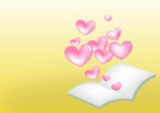 Livro do coração Fotos de Stock Royalty Free