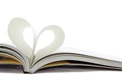 Livro do coração Fotos de Stock