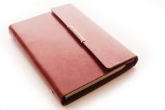 Livro do couro de Brown Fotografia de Stock