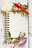 Livro do cozinheiro. Fotografia de Stock