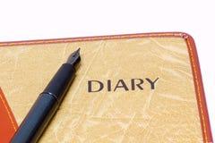 Livro do diário Foto de Stock Royalty Free