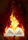Livro do incêndio mágico ilustração do vetor