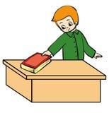 Livro do menino ilustração stock