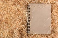 Livro do ofício na palha fotos de stock royalty free