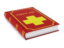 Livro do primeiros socorros no fundo branco Ilustra??o 3d isolada ilustração royalty free