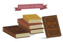 Livro do vintage no fundo branco Símbolos da faculdade da educação do conhecimento Fotografia de Stock