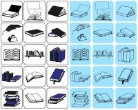 Livro dos ícones Imagens de Stock Royalty Free