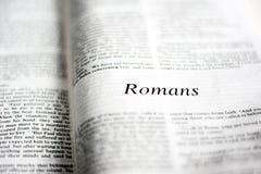 Livro dos romanos Fotografia de Stock Royalty Free