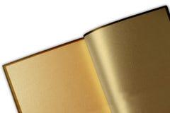 Livro dourado Fotografia de Stock