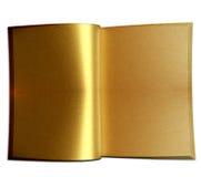 Livro dourado Fotos de Stock