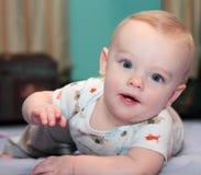 Livro e bebê Foto de Stock