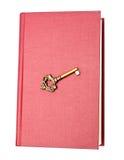 Livro e chave Foto de Stock Royalty Free