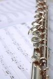 Livro e flauta de música Fotografia de Stock