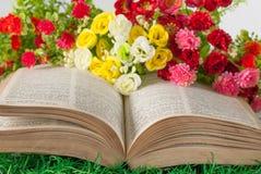 Livro e flores Imagem de Stock Royalty Free
