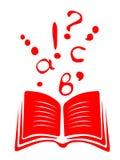Livro e letras Imagens de Stock Royalty Free