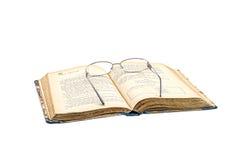 Livro e vidros Imagem de Stock