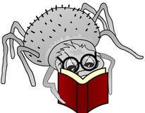 Livro e vidros da aranha Fotografia de Stock Royalty Free