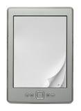Livro eletrônico com as páginas de papel curvadas Fotos de Stock