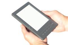 Livro eletrônico nas mãos Imagens de Stock Royalty Free