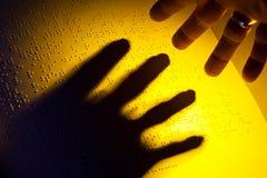 Livro em Braille. Braille para as cortinas Fotos de Stock