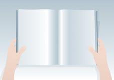 Livro em branco 2 ilustração do vetor