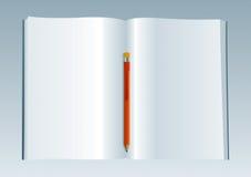 Livro em branco 3 Ilustração Stock