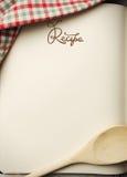 Livro em branco da receita Fotos de Stock Royalty Free