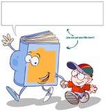 Livro engraçado e criança. Imagem de Stock
